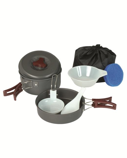 camping koch geschirr 1 pers alu anodized geschirr camping outdoor neu ebay. Black Bedroom Furniture Sets. Home Design Ideas